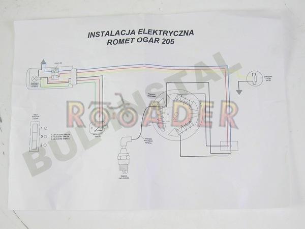instalacja elektryczna romet ogar 205