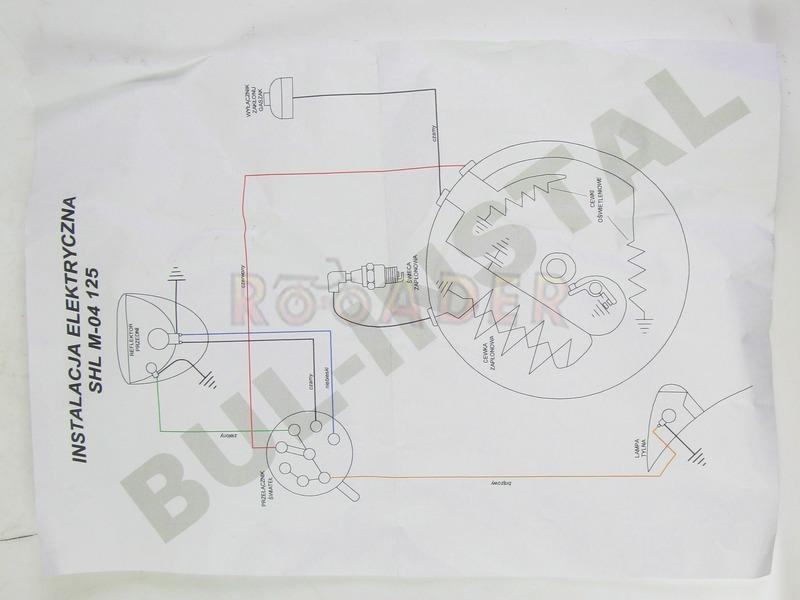 instalacja elektryczna shl 125 m-04